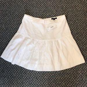 J. Crew ivory drop waist matelasse skirt size 8
